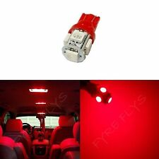 1x Red T10 168 194 2825 W5W 5 SMD LED Dome Map Cargo 1xM3