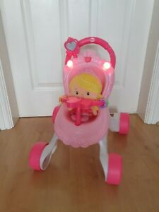 Fisher Price Princess My First Pram, Musical Walker And Doll Gift Set
