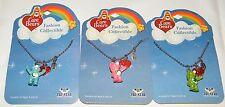 Set of 3 Care Bear Charm Necklaces Pendants!! Good Luck, Cheer & Bedtime Bear