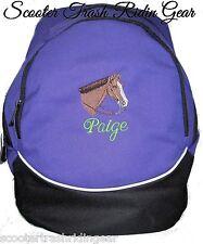 Western Pleasure Quarter Horse Purple Backpack Book Bag PERSONALIZED NEW school