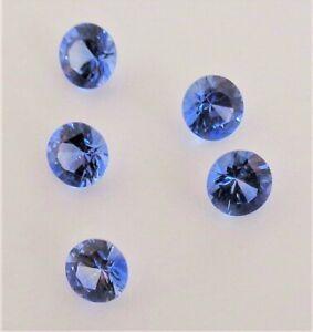 Sri Lankan Natural Blue Sapphire Round Cut 3.2mm - 5 pcs lot