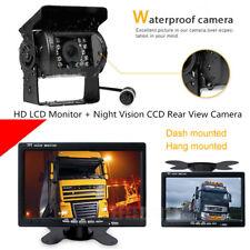 7'' HD LED TFT LCD Monitor 4 Pin IR Night Vision CCD Rear View Camera For Truck