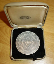 1957 ACU Auto Cycle Union Isle of Man TT Motorcycle  (Very LARGE) Medal & Box