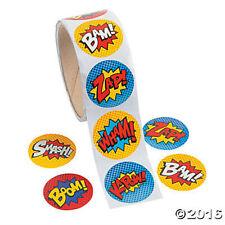 Superhero Stickers  - Party Supplies Loot Bag Party Favour Treat Bag - 100pk