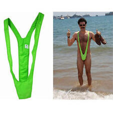 VERDE LIME BORAT MANKINI Uomo Tanga Stag Do FANCY DRESS COSTUME BABBO NATALE segreto regalo