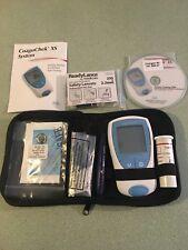 Roche CoaguChek XS PT/INR Home Testing Meter Strips Lancets Instructions EXC