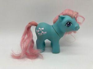 Vintage My Little Pony G1 Baby Bowtie Blue Horse Toy 1984 MLP Original Hasbro