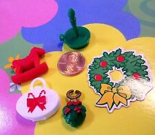Kelly Polymer Doll Clothes *Barbie Doll House Accessories 5 Pcs Christmas Decor*