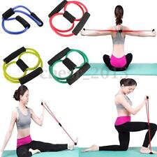 EQUIPMENT ELASTIC RESISTANCE Bands Tube Workout Exercise Band Stretch FOR YOGA
