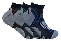 3 Pack Mens Black Breathable Low Cut Athletic Sports Ankle Quarter Cycling Socks