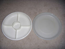 TUPPERWARE PARTY DIVIDED SERVING SNACK RELISH VEGGIE TRAY
