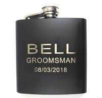 Personalized Engraved Hip Flask Funnel Stainless Steel Wedding Groomsmen Gift