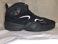 Nike Flight One Penny 1 Black/Black-White Basketball Shoes #(538133-010) Sz 10.5
