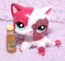 Littlest Pet Shop #2291 Sparkle Pink SHORTHAIR Cat Starbucks AFTERMARKET