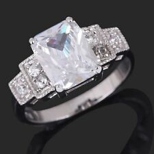 6.0CT Wedding Engagement White Sapphire Gold Filled Women's Rings Gift Size 6-10