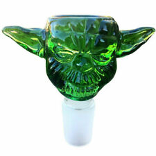 14mm Yoda Green Glass Bowl Male Joint For Bongs Glass Water Hookahs Accessories