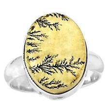 Psilomelane Dendrite German 925 Sterling Silver Ring Jewelry s.7.5 PDGR101