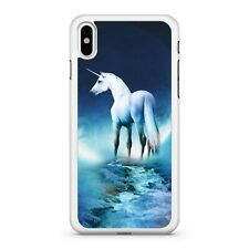 Magical White Enchanted Unicorn Blue Milky Way Galactic Space Phone Case Cover