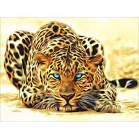 5D DIY Diamond Painting Leopard Cross Stitch Embroidery Mosaic Kit Craft