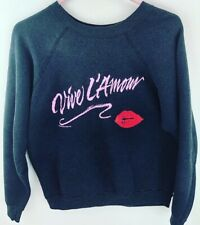 Vintage Vive L'amour 1986 Hallmark Cards Black Sweatshirt Made in USA Sz Large L