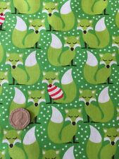 Michael Miller Sweater Weather Fox Christmas Cotton Quilting Fabric FQ 50cmx54cm