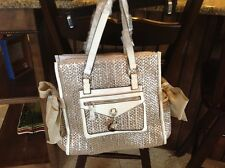 Juicy Couture ladies gold n silver tones detailed with bows n charms purse NEW!