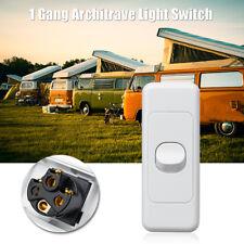 1 Gang Architrave Light Switch Wafer Series Double Pole Caravan RV 10A White AU