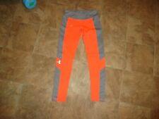 Girls Under Armour Orange/Gray Athletic Leggings Size YMD
