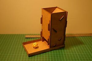 Take-down Dice Tower & catch tray, high quality laser cut MDF