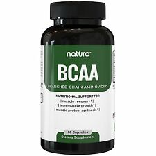 Natura BCAA Chain Amino Acids 1600MG Muscle Recovery Supplement 60 ct. s