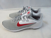 Nike Downshifter 9 Mens Size 11.5 Wide 4E EEEE Wolf Grey Red White AR4946-006