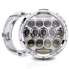 """7"""" LED Chrome Daymaker Projector Headlight For Honda Hornet 250 600 900 VTEC VTR"""
