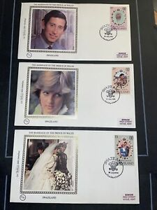 STAMPS - BC SWAZILAND BENHAM COVERS (3) MARRIAGE OF PRINCE OF WALES AS SHOW
