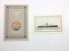 Cunard Line Passenger List R.M.S Lancastria Saturday August 10th 1929