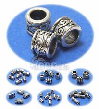 Perles intercalaires métal couleur Argent vieilli Aspect Antique style tibétain