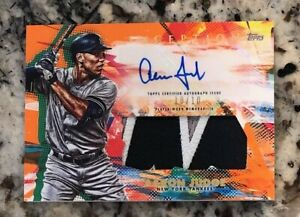 Aaron Judge 2020 Topps Inception Orange Auto Letter Patch 10/10 Yankees