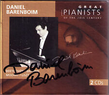 Daniel BARENBOIM Signed GREAT PIANISTS OF THE 20TH CENTURY 2CD Beethoven Brahms