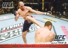 2009 TOPPS UFC ROUND 1 DEBUT  ROOKIE RC  BEN SAUNDERS #73