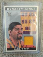 MAGIC JOHNSON 2015 Sport Kings Leaf JERSEY RELIC Card Lakers