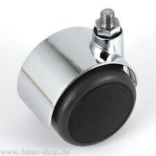 Möbelrolle 50 mm für USM Haller Rolle Hartbodenrolle Chrom ohne Bremse Lenkrolle