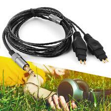 Schwarzes Ersatzkabel für Sennheiser HD414 HD650 HD600 HD580 Kopfhörer TH970