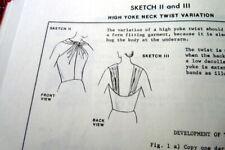Vintage 1970s Pattern Drafting Sewing Book