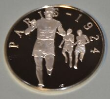 PARIS 1924 PAAVO NURMI - HISTORY OF THE OLYMPIC GAMES .925 SILVER MEDAL