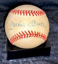 Mickey Mantle Autograph Baseball: READ DESCRIPTION - New York Yankees MLB