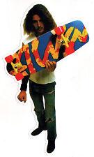 Alva Skates TA Splatter Skateboard Sticker - White edge old school skateboarding