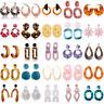 Attractiv Women Acrylic Geometric Pendant Dangle Drop Statement Earrings Jewelry