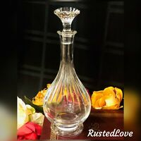 Baccarat Clear Crystal Massena Wine Decanter 30 oz. Blown Glass France 10.5""