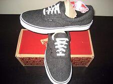 Vans Era Mens Tweed Black True White Skate/ boat shoes size 10.5 VN0003Z52H3 NWT