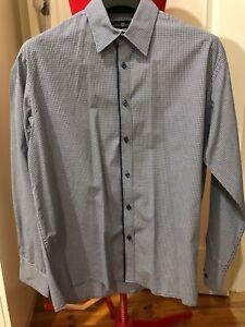 Studio Italia Studio Fit Men's Shirt Navy / White Check Size 43 / 90