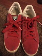 Puma Stepper Red Seude Mid Boots Uk 9.5 #
